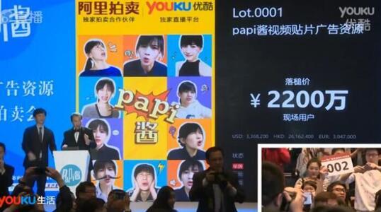 top2. papi酱广告拍卖2200万